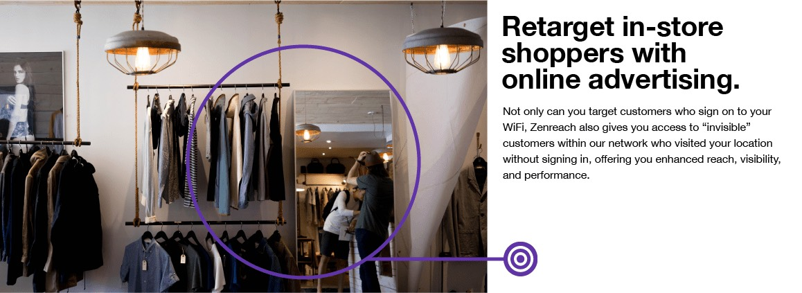 Retarget in-store shoppers with online advertising.
